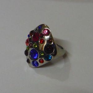 Multicolor Diamond Shaped Fashion Ring